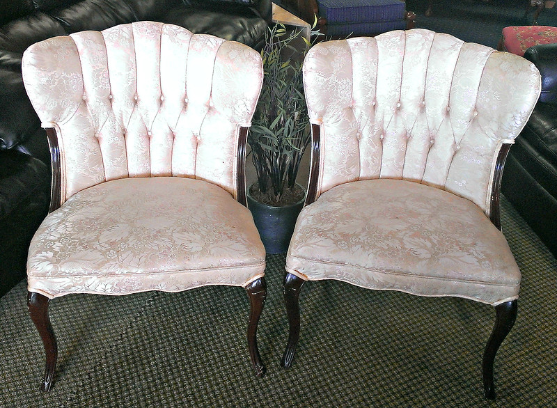 Set of 2 French Provincial Accent Chairs in Very Good Condition.    26 x 24 x 34.  <b>$350 for the set.</b>