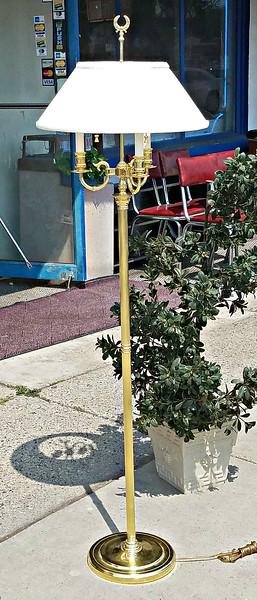 Baldwin Brass Candlestick Floor Lamp