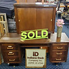 Mid Century Desk and Credenza Set