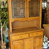 Solid Wood Hutch Cabinet