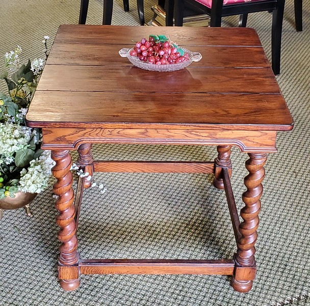 Antique French Walnut Occasional Table