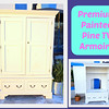 Extraordinary Premium Painted Pine Solid Wood TV Armoire.  Could easily be turned into a warbrobe armoire.  Includes skeleton key.  Excellent condition.  Overall Dimensions: 52 1/2 x 25 x 80.  Interior Cabinet Dimensions to Shelf: 43 x 22 x 39.   <b>$350</b>