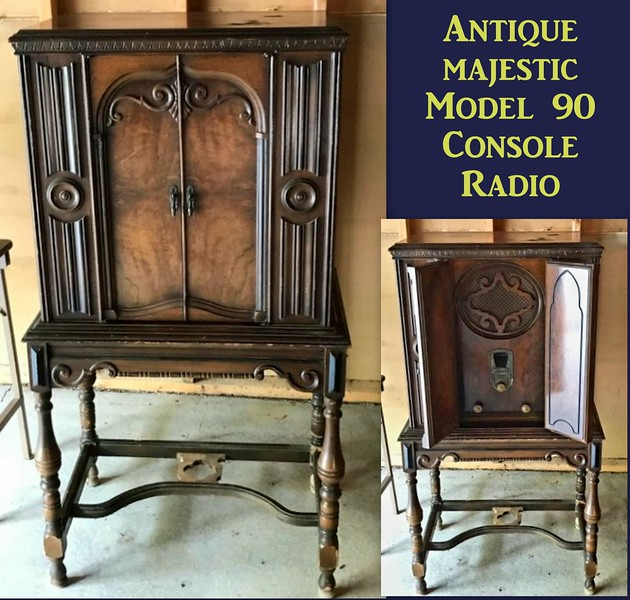 Antique Console Radio Cabinet