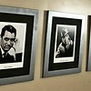 Set of 3 Classic Collectible Hollywood Stars Framed Art.  Features Humphrey Bogart, Carry Grand and Ingrid Bergman.