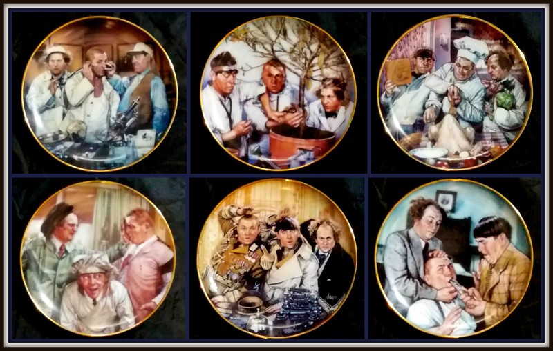 Three Stooges Collector's Plates