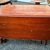 Vintage Solid Wood Drop Leaf Table.  44 x 27 x 30 (as shown).   44 x 71 x 30 (in fully open position).  <b></b>
