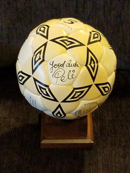 Pele - Autographed Soccer Ball