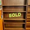Wide Dark Wood Bookshelf