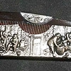 Embossed Silverplate Comb with Case