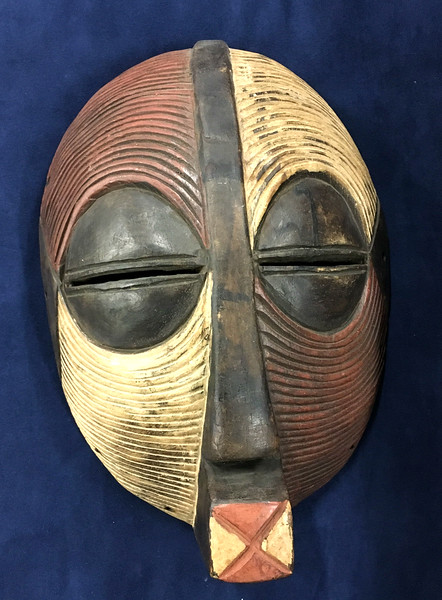<b>Available at our Livernois Store Location - (313) 345-0884.  </b>Rare Museum Quality 19th Century African Mask Luba Tribe Mask Ethnic Art.  The Luba empire was founded in 1585 in the Upemba depression by King Kongolo. His nephew and successor, Kalala Ilunga, rapidly expanded the kingdom to encompass all the territories on the upper left bank of the Lualaba River. At its peak, about one million people, living in several tribes, were paying tribute to the Luba king.