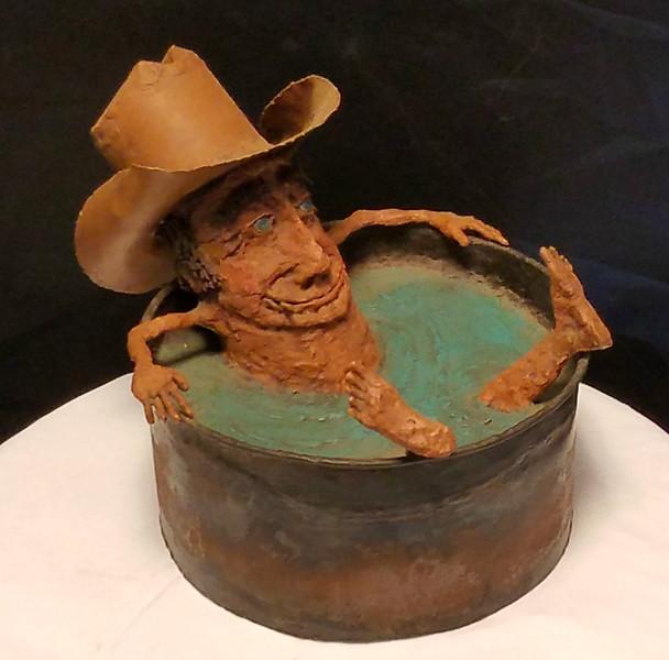 Country Cowboy Hot Tub Art
