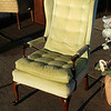 Tufted Wing Back Chair