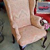 Queen Anne Mahogany Wing Chair