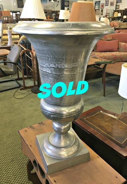 Large Aluminum Vase