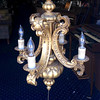 <b>Available at our Livernois Store Location - (313) 345-0884. </b>  Attractive French Provincial Chandelier in Excellent Condition.  <b>$175</b>