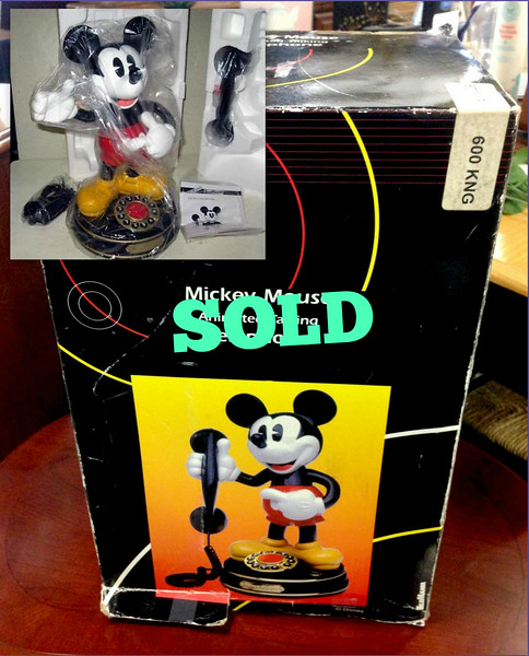 <b>Available at our Livernois Store Location - (313) 345-0884. </b> New In Box Vintage Retired Disney Animated Talking Mickey Mouse Telephone.  <b>$75</b>