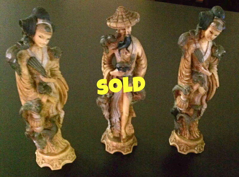 <b>Available at our Livernois Store Location - (313) 345-0884. </b>  Ancient Japanese Figurines. 3 x 10 <b>$75</b>