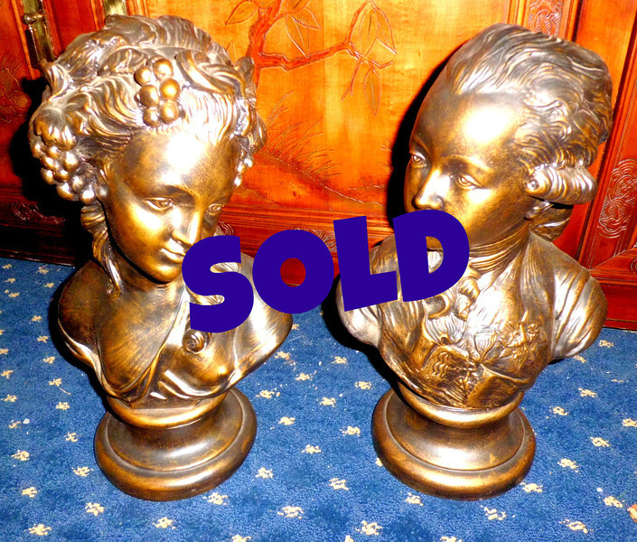 <b>Available at our Livernois Store Location - (313) 345-0884.</b>  Set of 2 Colonial Period Busts.  <b>$150 for the set</b>