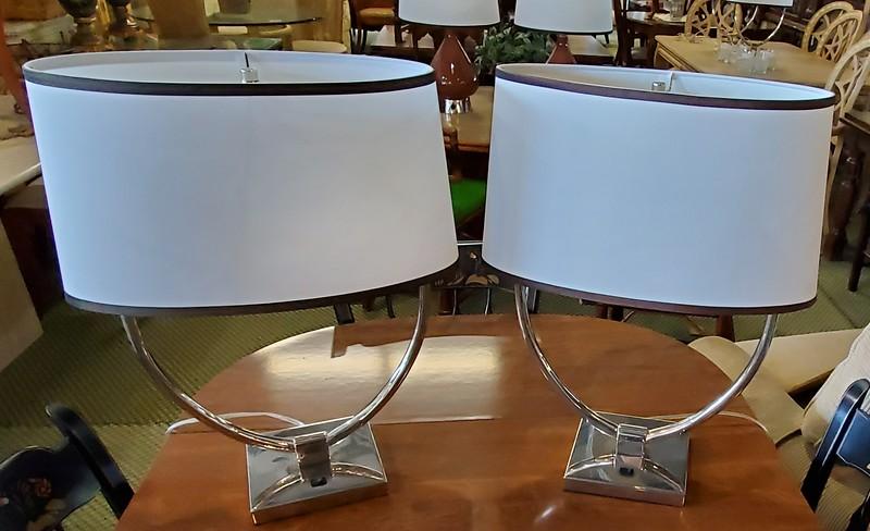 Polished Metal Table Lamps