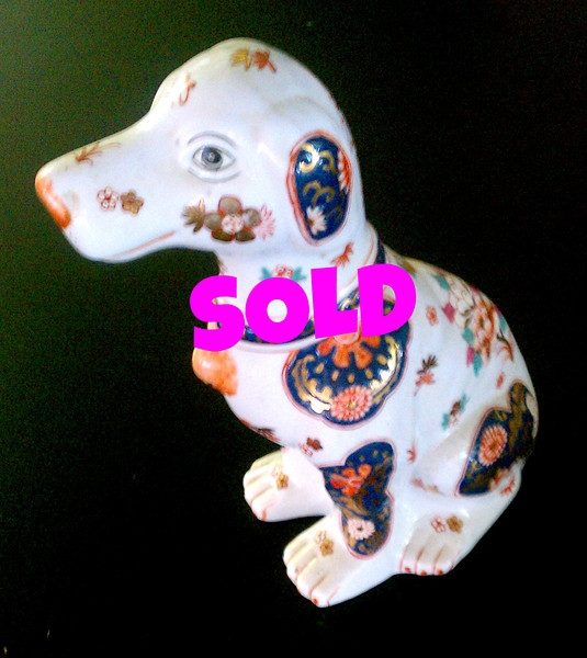 <b>Available at our Livernois Store Location - (313) 345-0884. </b>   Vintage Japanese Porcelain Dog. 9 x 12 <b>$65</b>