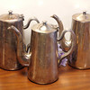 Water Pitcher by DW Haber & Son NY Heavy Silver-Plated.  10/1/2 x 4 x 10.  <b></b>