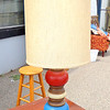Unique Red, White &amp; Blue Table Lamp.  21 x 36.  <b>$40</b>