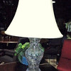 "Ornate Crystal Glass Lamp with White Shade. 28"" <b>$55 </b>"