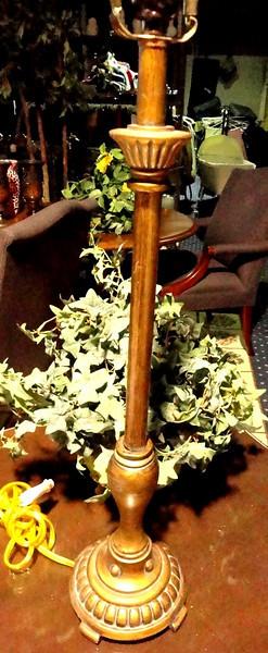 Tall Slim Wood Table Lamp.  <b>$35</b>