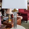 Transitional Glass Table Lamp