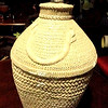 "Cream Colored Basket Weave Lamp. 28"" <b>$65</b>"