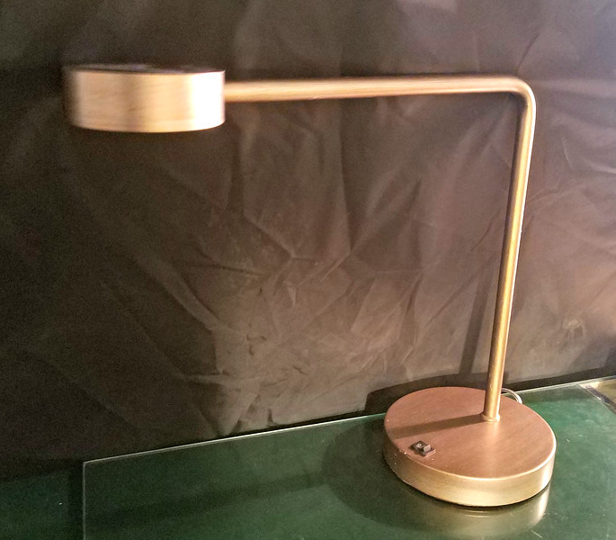 Brushed Gold Elbow Desk Lamps