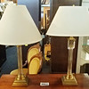 Glass Column Table Lamps
