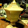 "Brushed Brass Table Lamp.  27"" <b>$40</b>"