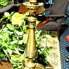 "Unique Brass Lamp with Tri-Pod Legs.  33""  <b>$60</b>"
