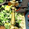 """Unique Brass Lamp with Tri-Pod Legs.  33""""  <b>$60</b>"""