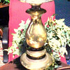 "Tall Brass Lamp. 32"" <b>$40 </b>"