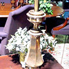 "Tall Narrow Brass Lamp. 36"" <b>$30</b>"