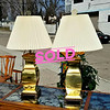 Sleek Golden Table Lamps