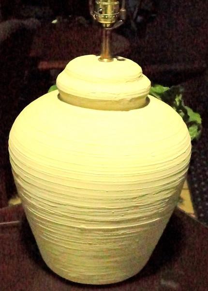 "Beige Southwest Style Table Lamp.  30"".  <b>$30</b>"