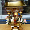 Brass Hurricane Style Table Lamp