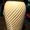 "Mauve Ceramic Lamp with Grooved Swirls.  27""  <b>$35</b>"