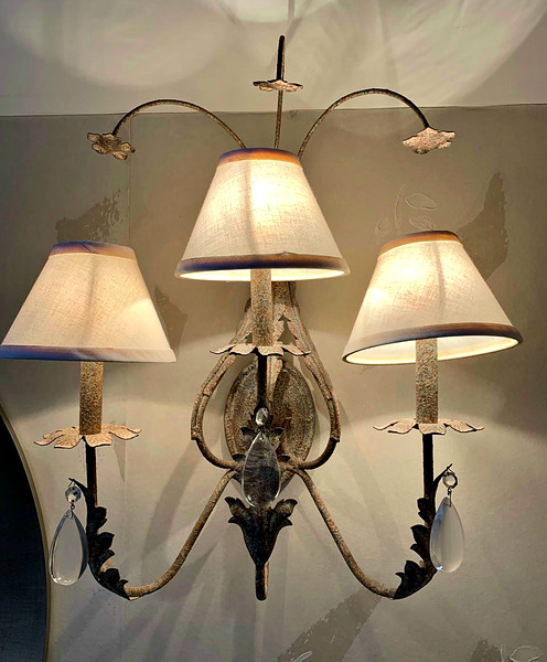 Metal Sculpted Wall Sconces