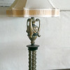 Unique Provincial Style Table Lamp with Ornate Shade.  22 x 39.  <b>$75</b>