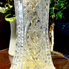 Elegant Crystal-Look Glass Table Lamp in Very Good Condition.  9 x 25.  <b>$45</b>