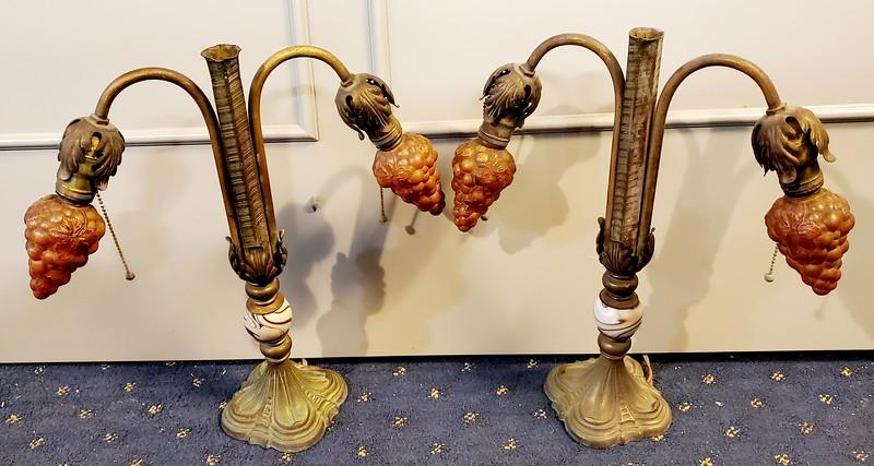 1920's Art Nouveau Table Lamps