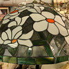 Beautiful Stained Glass Hanging Lamp.  20 x 15.  <b>$175</b>