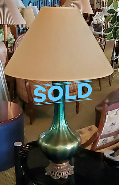 Green Mid Century Green Table Lamp