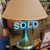 Green Mid Century Green Table Lamp