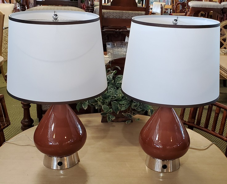 Contemporary Toffee Table Lamps
