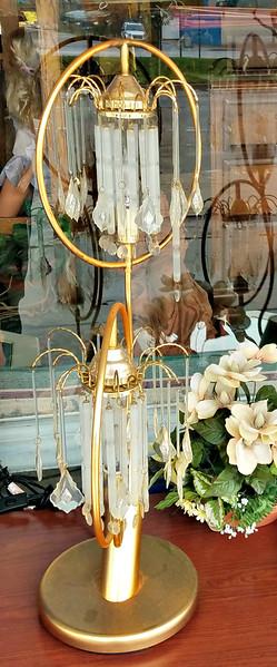 Faux Crystal Table Lamp.  <b>$25</b>